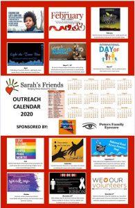 Sarah s House 2020 Outreach Calendar
