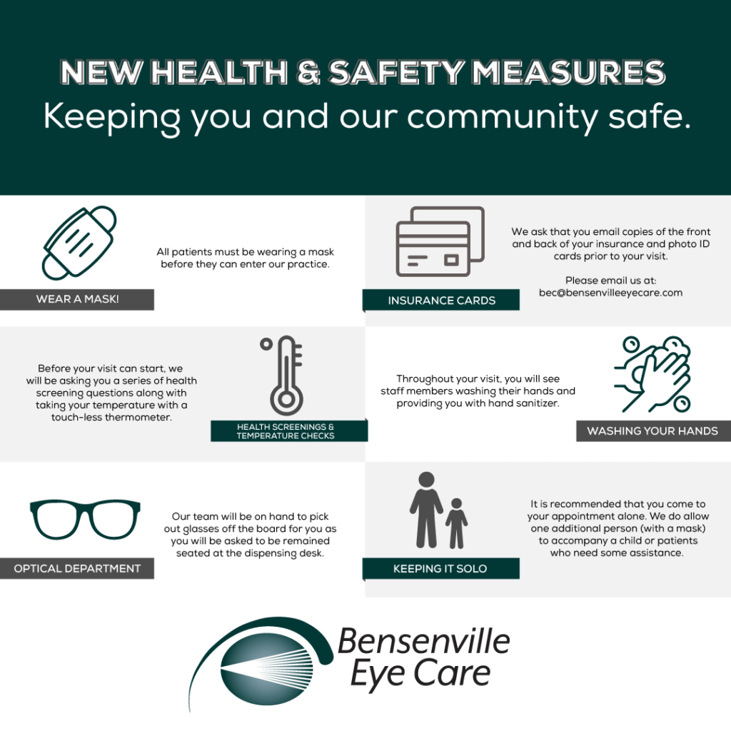 BenesenvilleEyeCare ReopeningProceduresWebsitePopup Updated