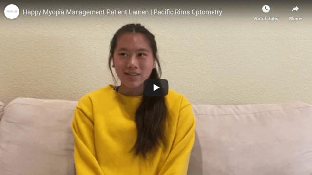 Screenshot 2020 07 20 Happy Myopia Management Patient Lauren Pacific Rims Optometry