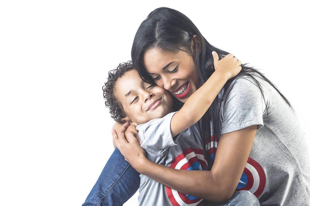 Happy Mother Son Hugging 1280×853
