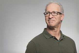 Senior Man Wearing Black Glasses