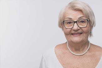 Senior Woman Using Eyeglasses