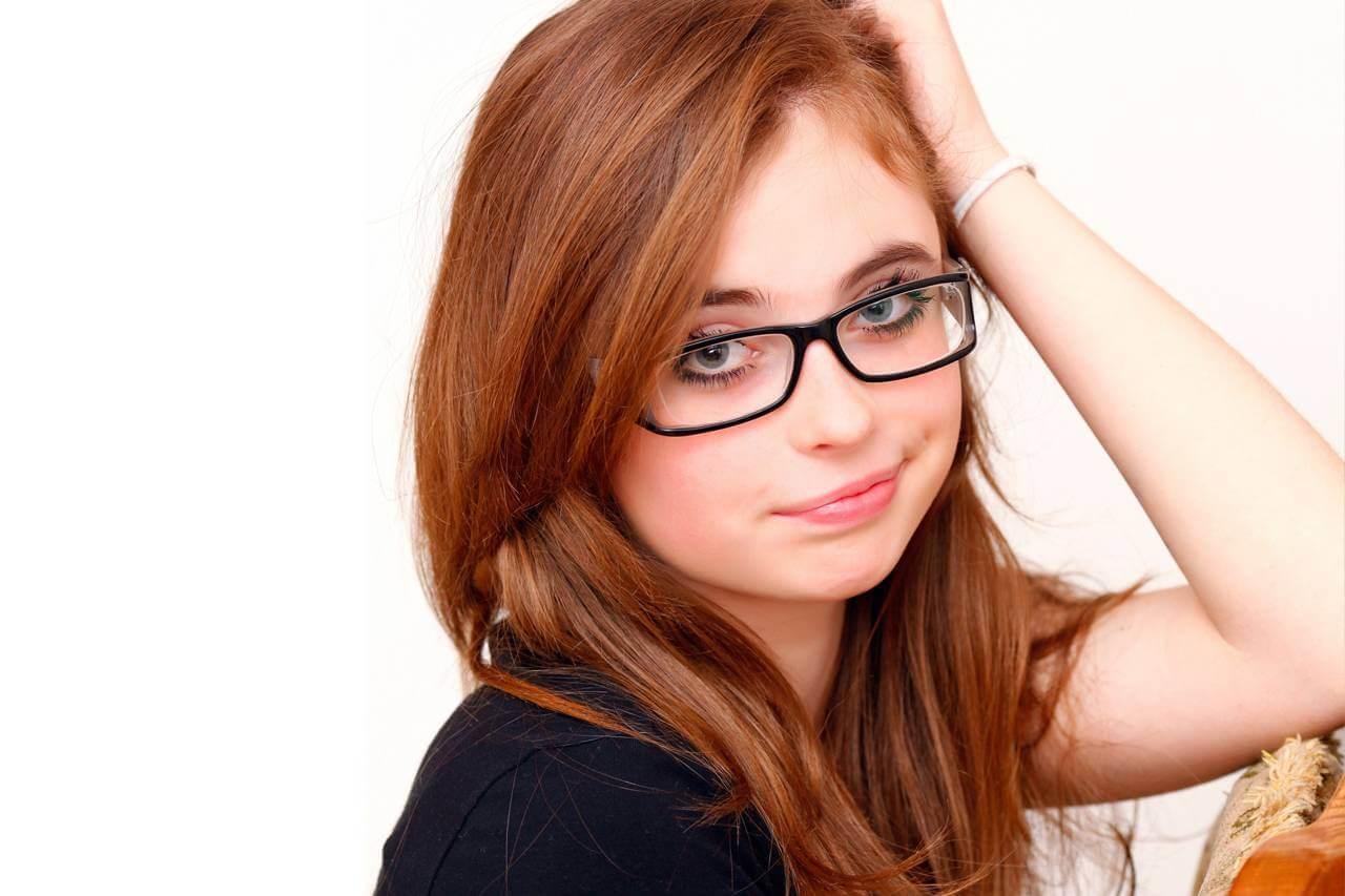 Female Red Hair Glasses 1280×853