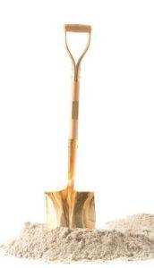 Golden Shovel and Sand