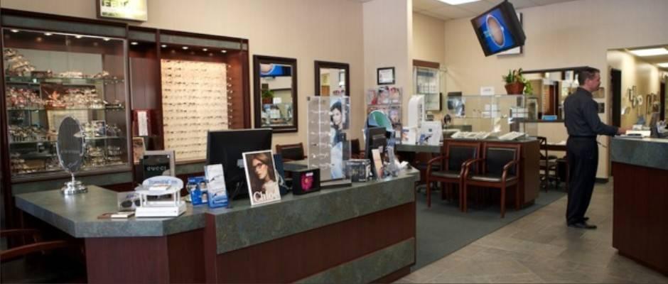 eyewear office reception