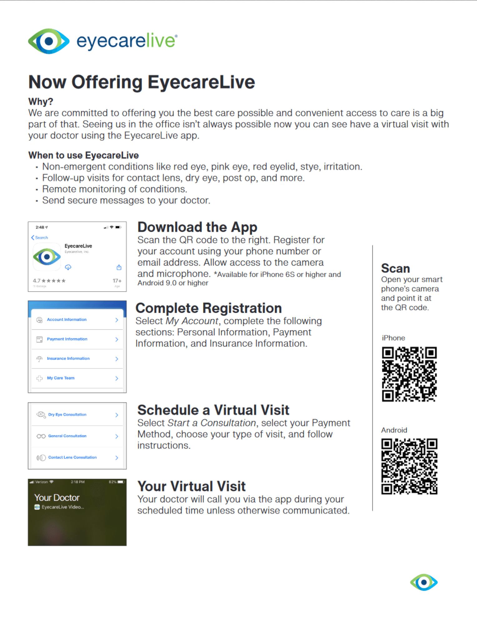 How to use eyecarelive