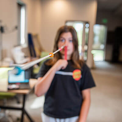 Teenager doing Vision Therapy in Colorado