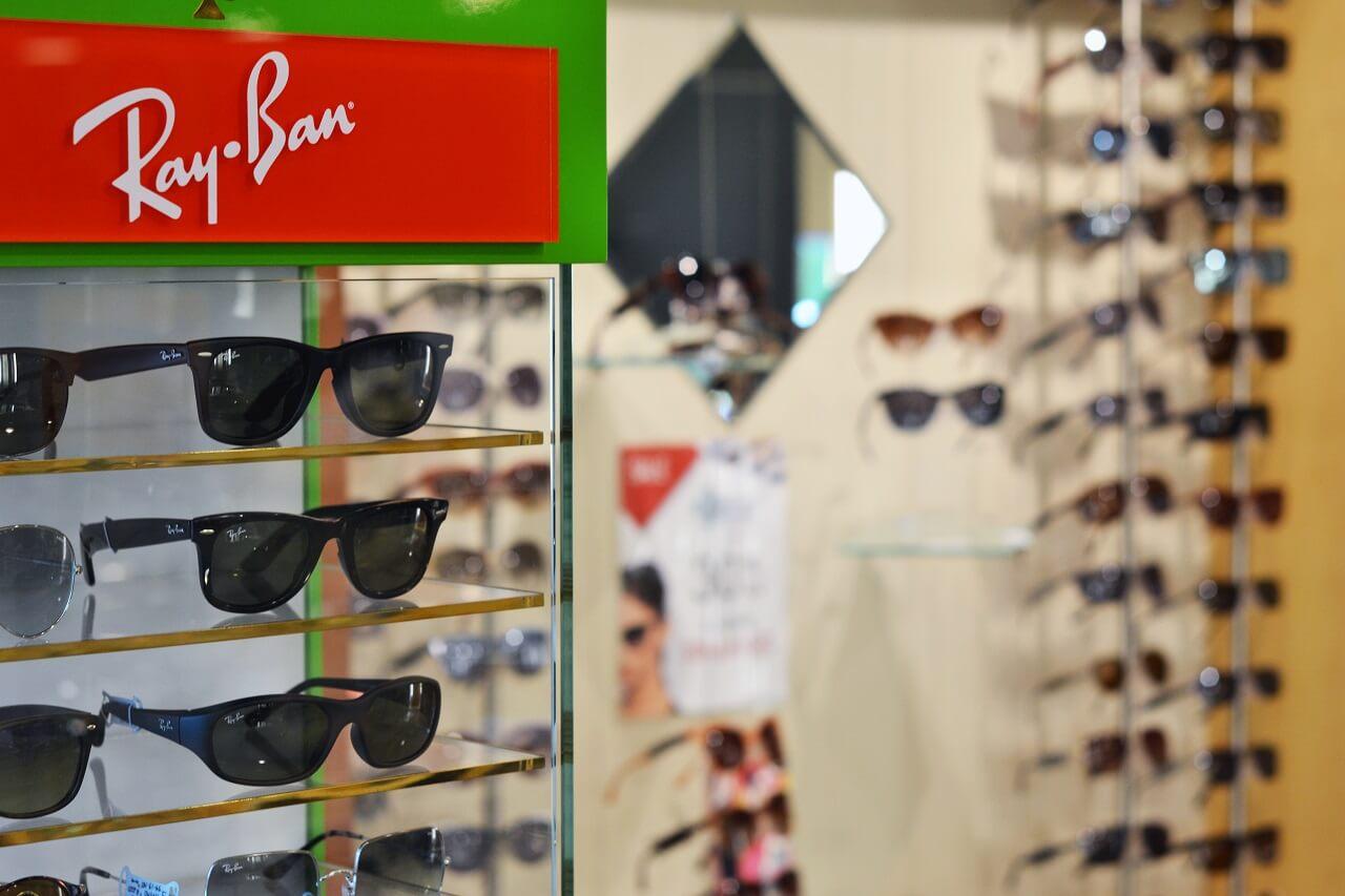 RayBan sunglass display