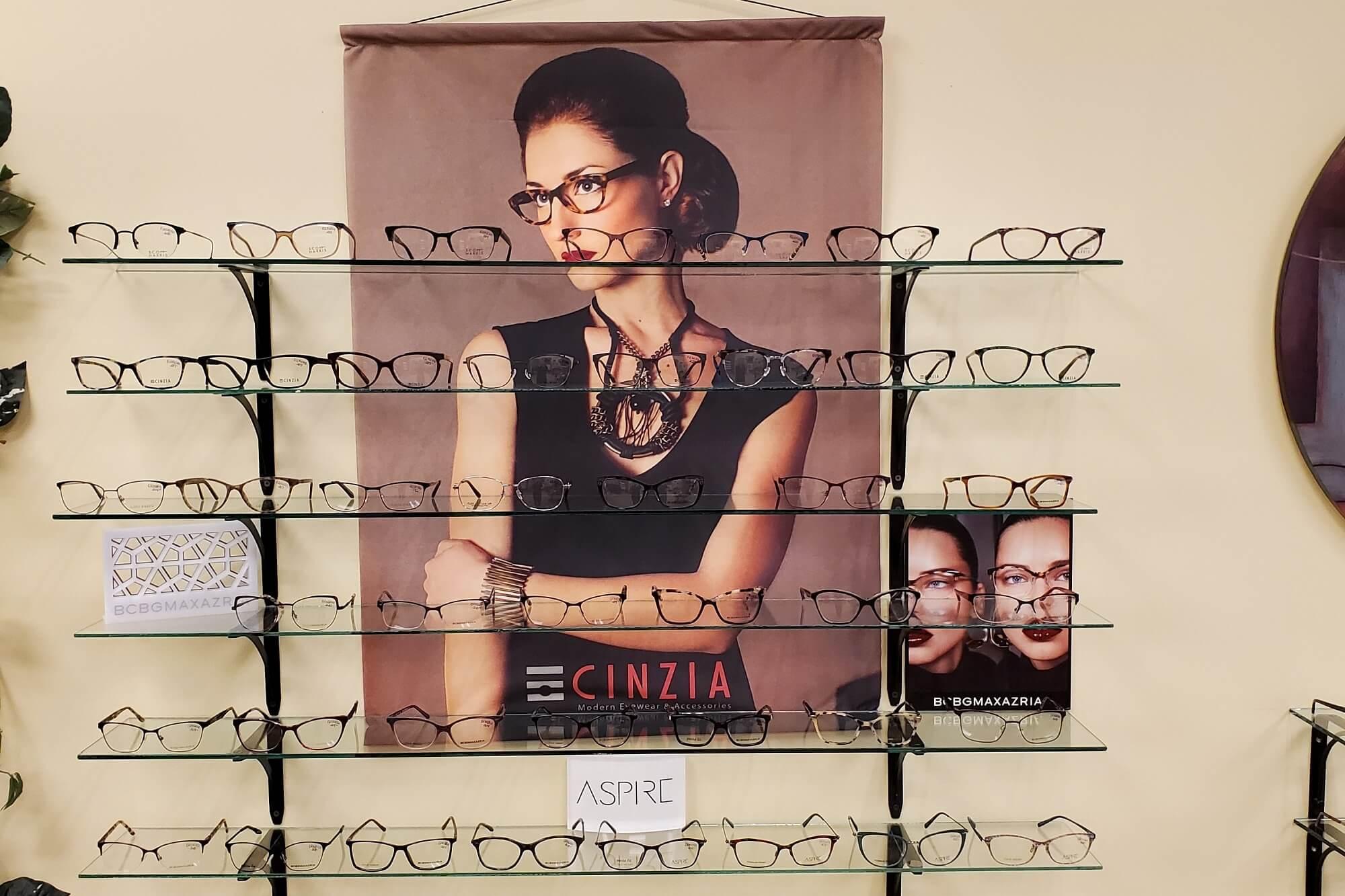 Cinzia eyewear display