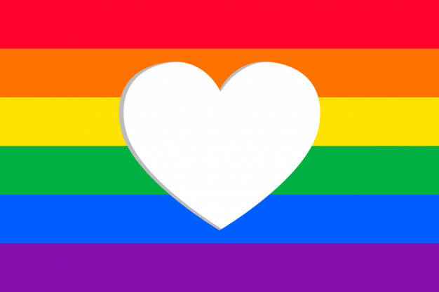 pride day flag with heart frame 1199 219