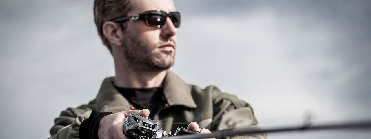 man fishing sunglasses