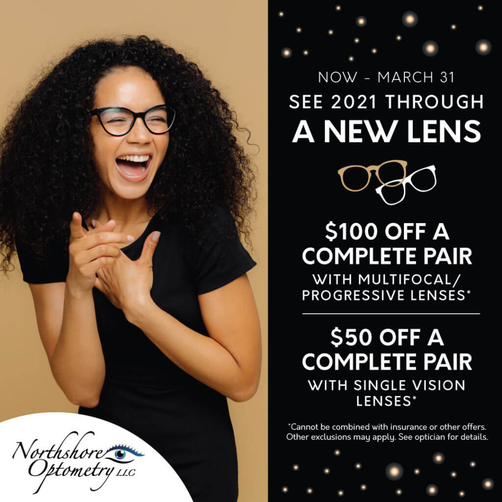 NorthshoreOptometry Q1 See2021ThroughANewLens SocialPost