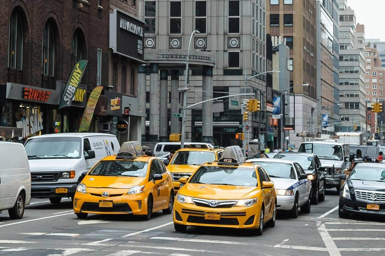 new york city taxis 1280×853