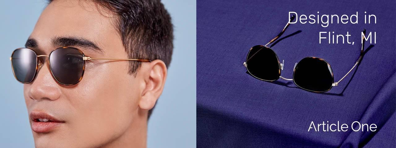 Man Wearing Article One Eyeglass Frames