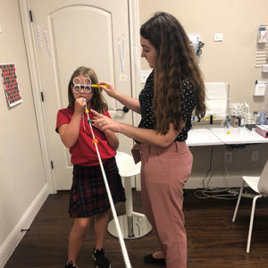 vision therapy session in Austin, Texas
