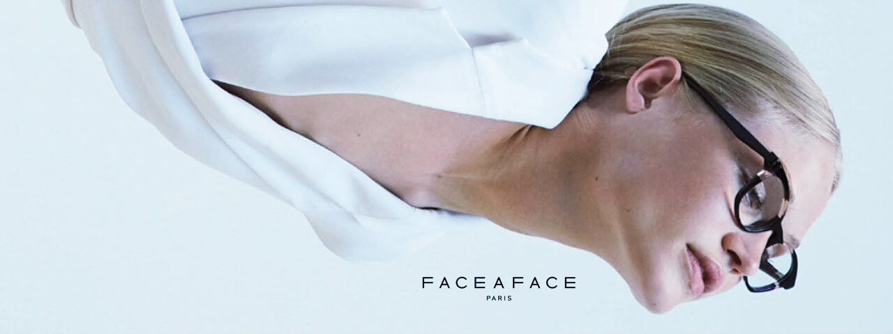 Woman Wearing Face a Face Designer Eyeglass Frames