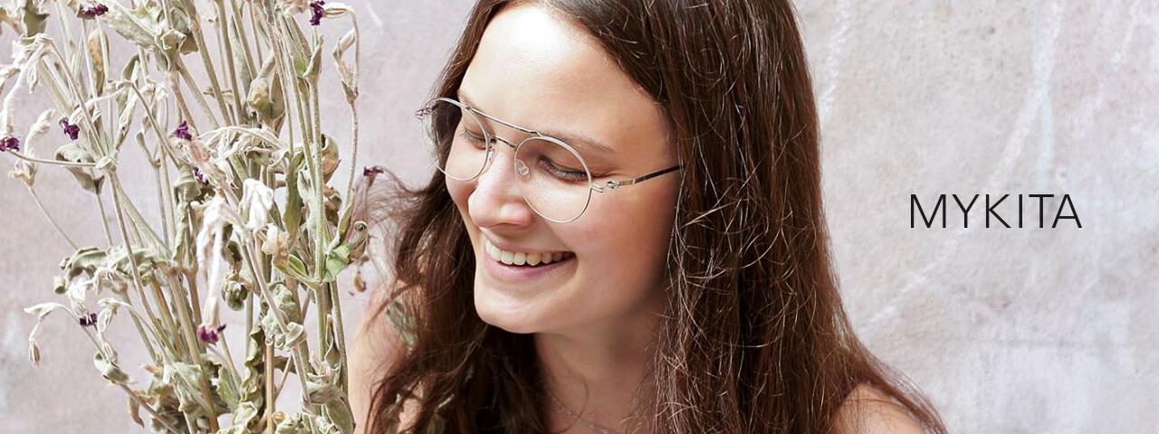 Woman Wearing Mykita Designer Eyeglass Frames
