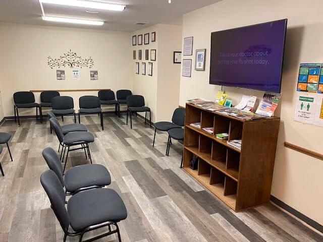 East Dallas FEC waiting room