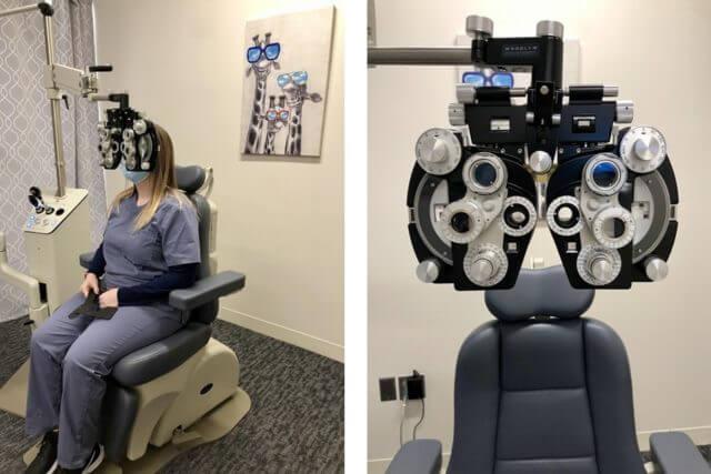 Phoropter in Dry Eye Center of Alabama