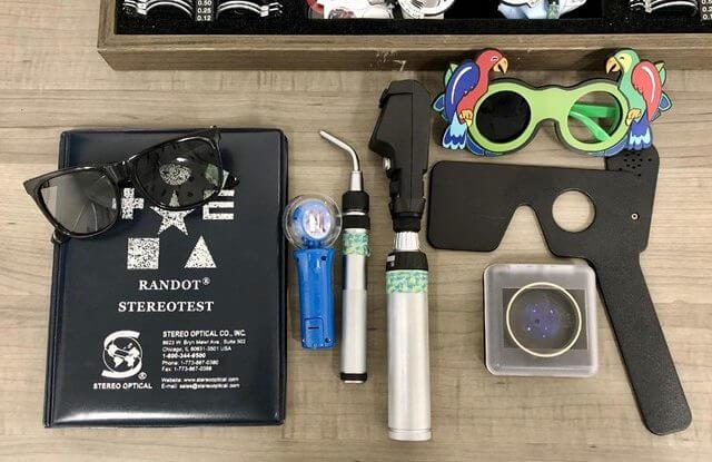 tools during eye exam
