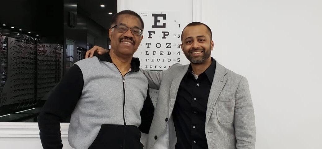 eye doctor patient