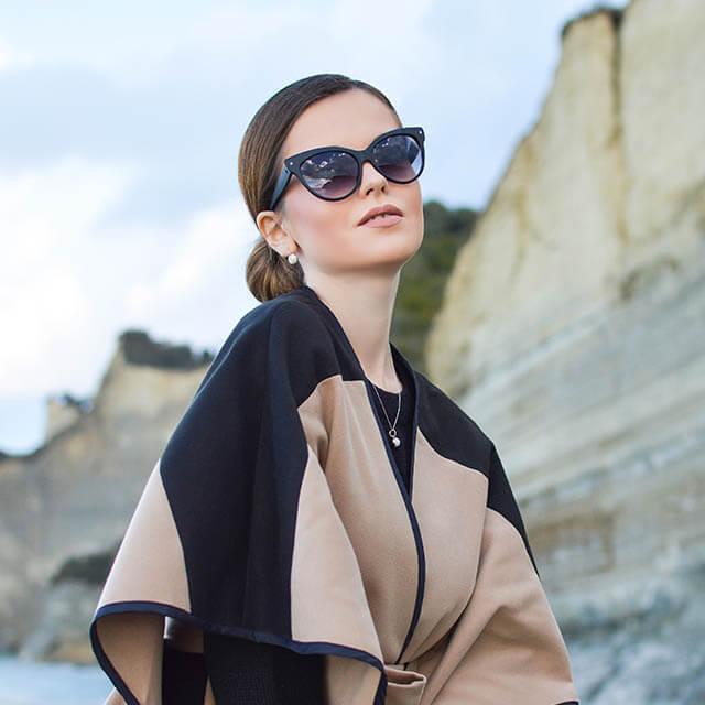 woman wearing designer sunglasses in Austin, Texas