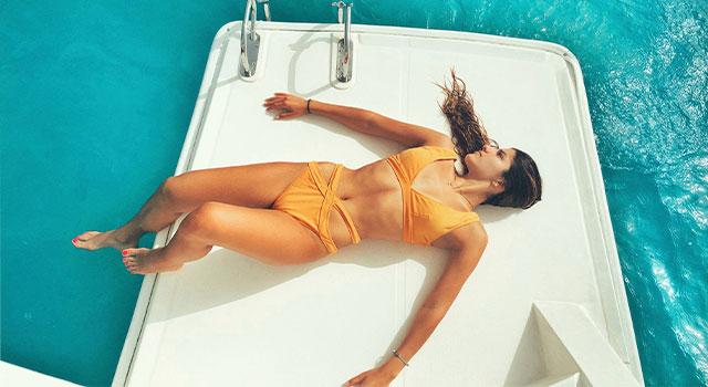 woman enjoying summer