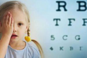 pediatric eye exam girl eye chart