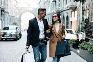 Shopping.,Black,Friday.,Couple.,Love.,Man,And,Woman,With,Shopping