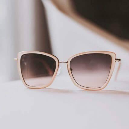 designer eyeglasses on a table