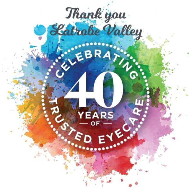 40 years multi color