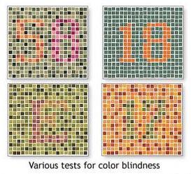 test for colour blindness
