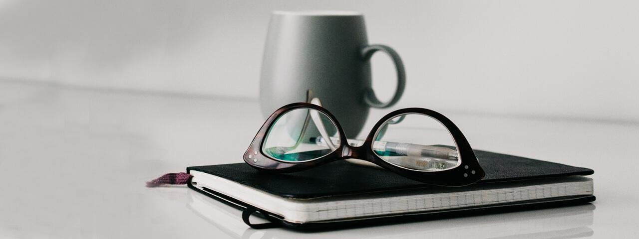 Glasses Notebook Mug 1280×480