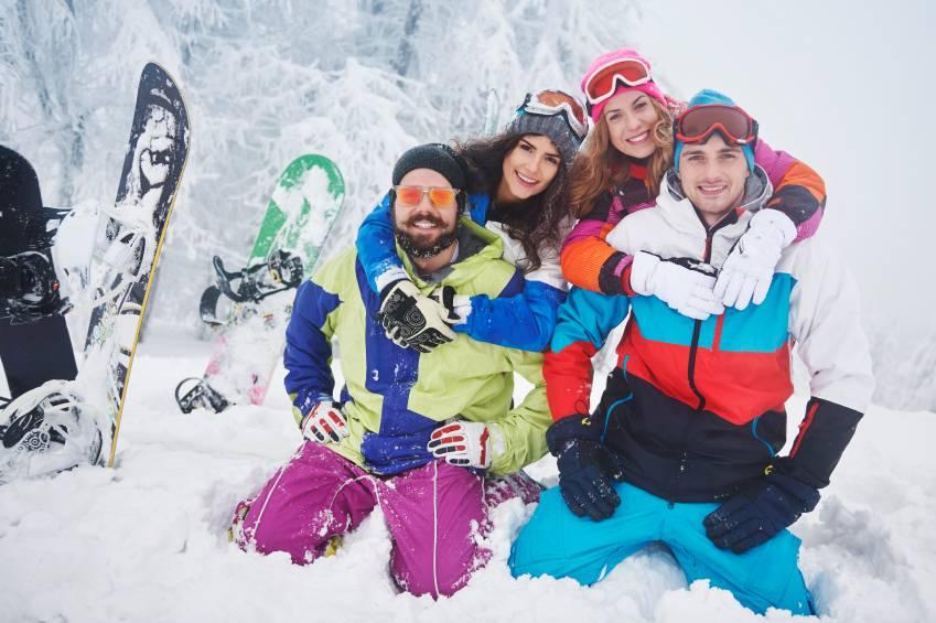 Winter Fun On The Ski Slope