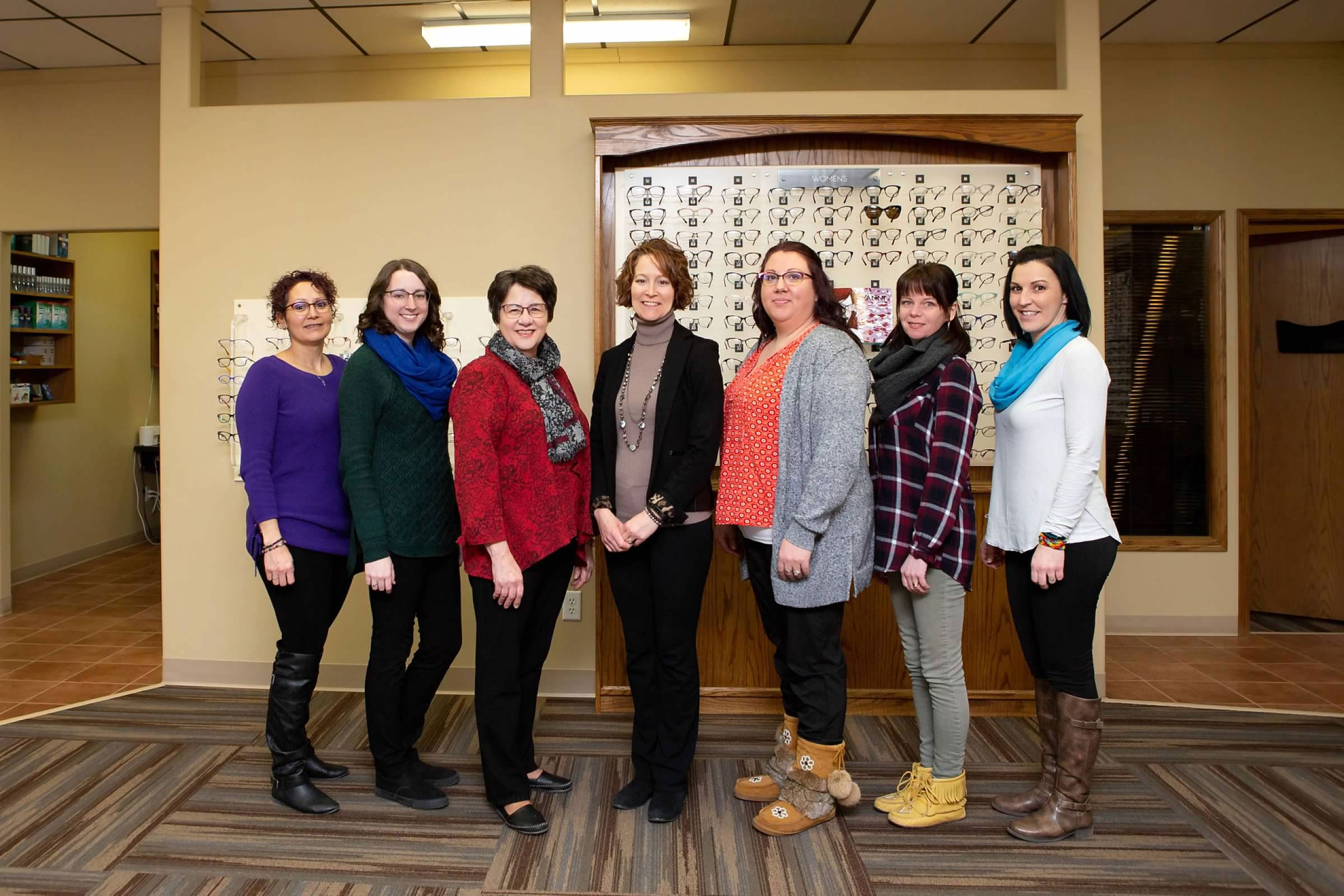Staff of Vision North Eye Care