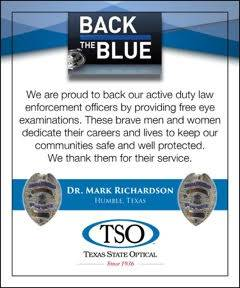 Back the Blue at TSO Aldine Westfield