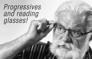 progressives and reading glasses