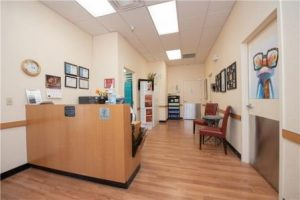 Eye care reception area - optometrist Parker CO