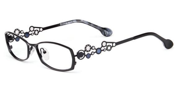 metal frames with jewels on the sides of cool glasses