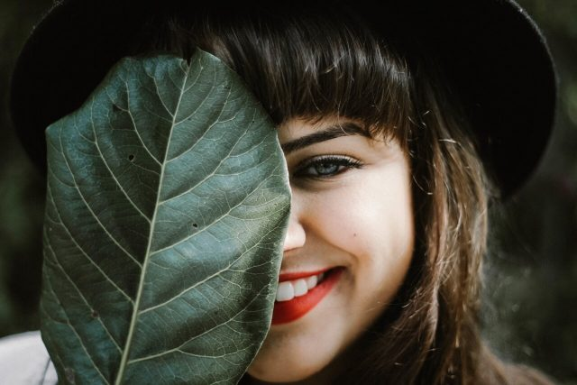 leaf woman smiling 1280x853