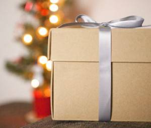 christmas - brown paper package