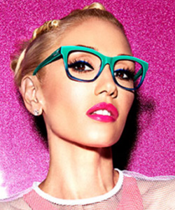Model wearing GX by Gwen Stefani, Eye Care in Burbank, CA