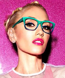Model wearing GX by Gwen Stefani, Eye Care in Burbank, CA
