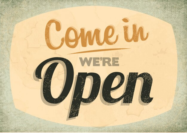 come we re open sign 1045 26