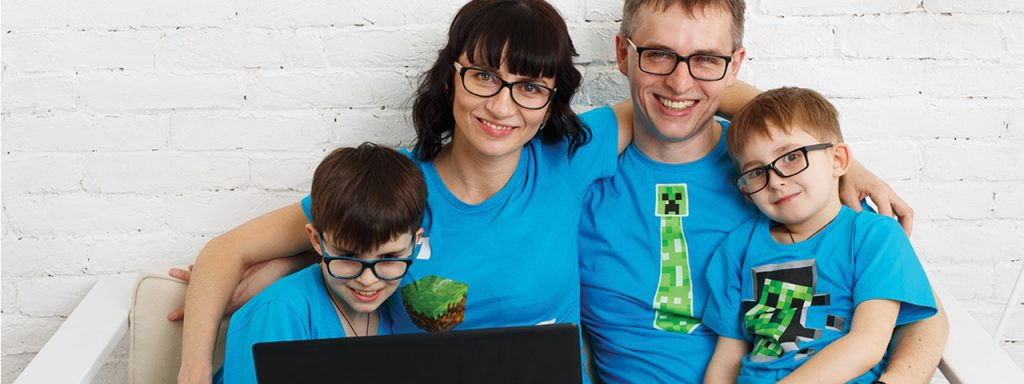 family eyeglasses computer