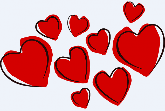 clipart valentines day hearts 4