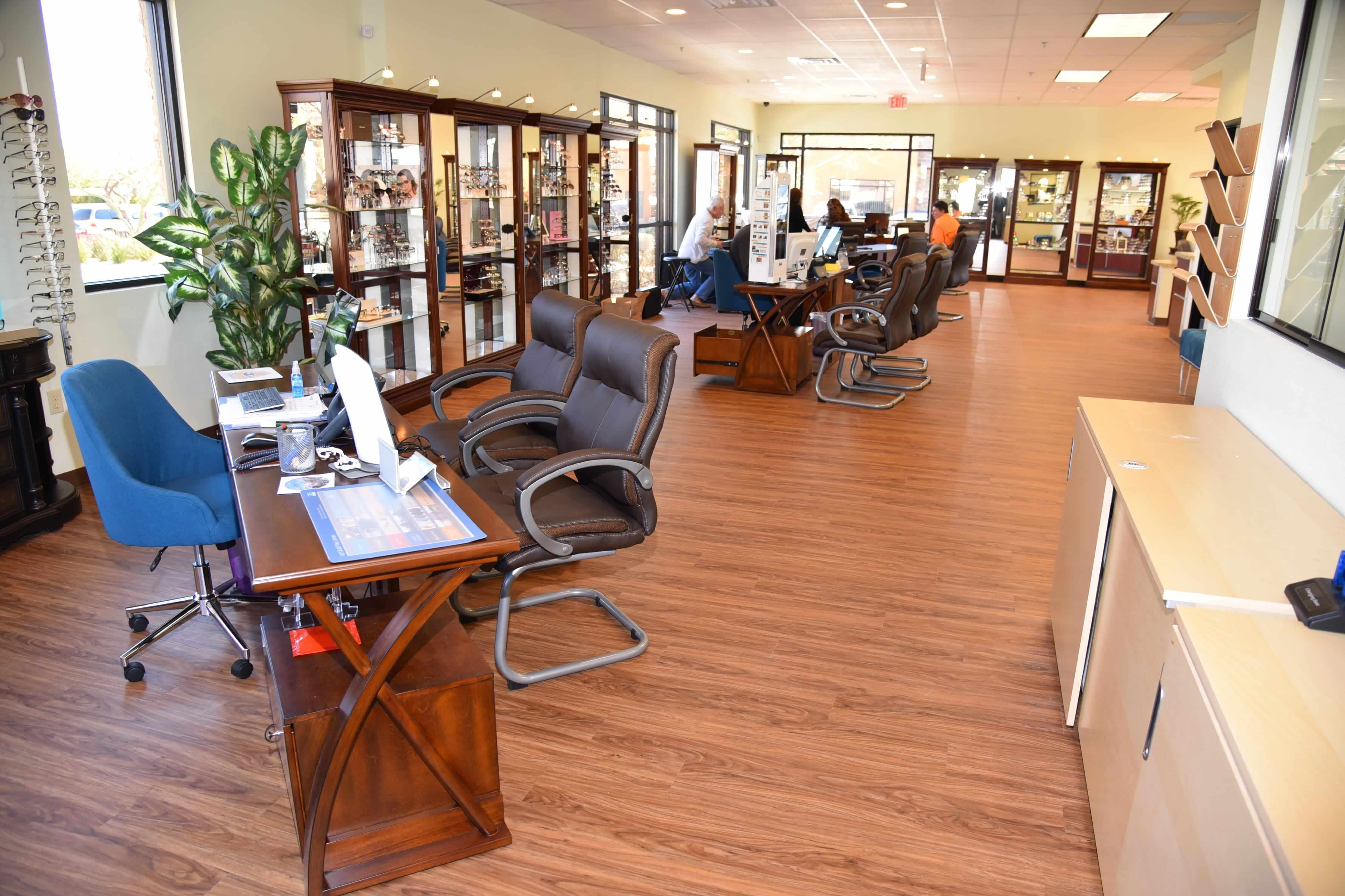 inside our vision center