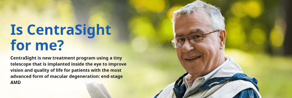 elderly man with glasses centrasight ad