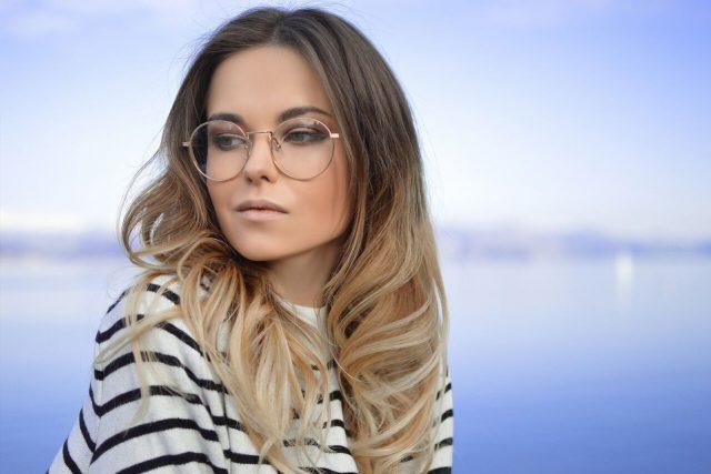 lady wearing glasses in las vegas