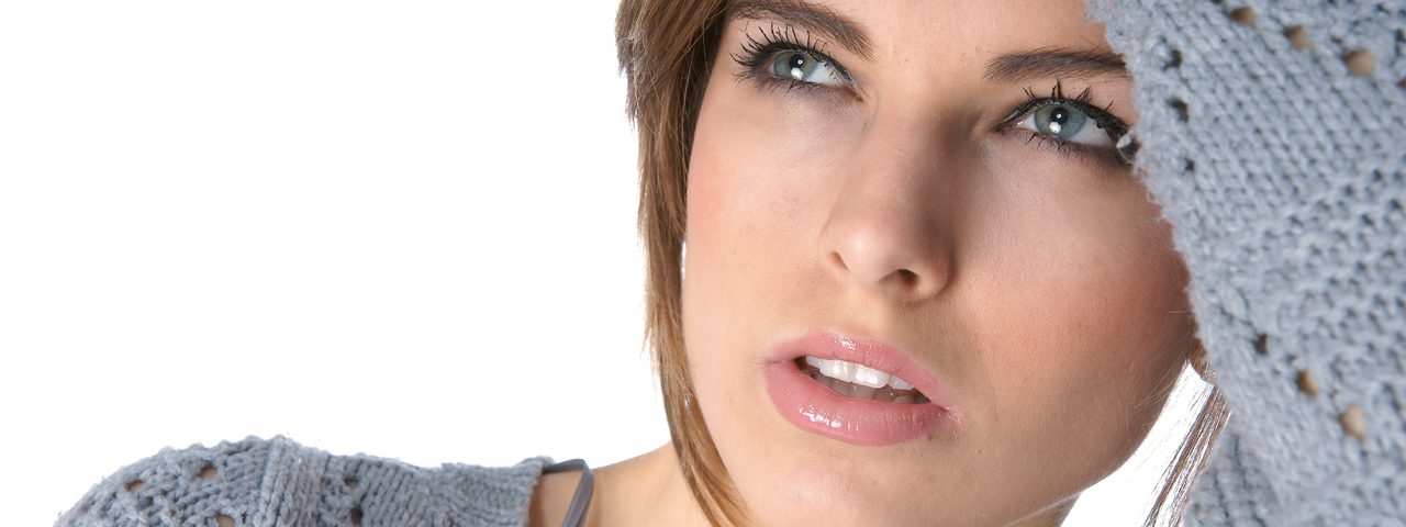 Woman suffering from dry eyes